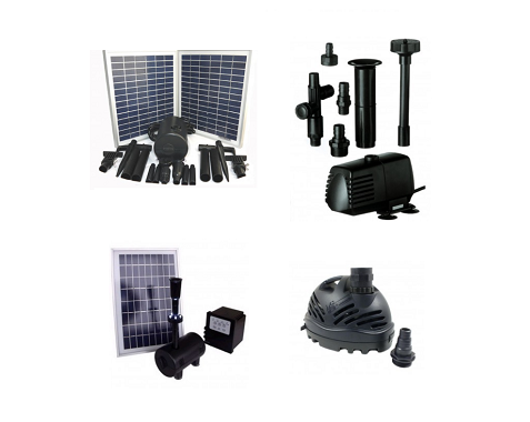 Solar and Mains Powered Water Feature Pumps