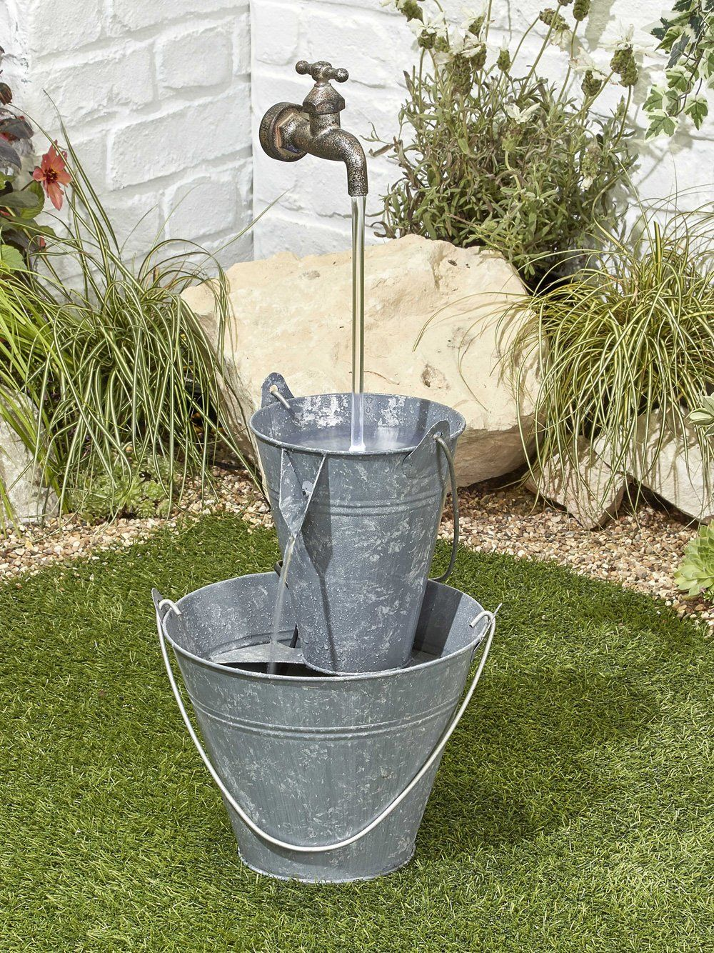 Floating tap fountain water feature waterfeatures2go for Garden fountains and water features