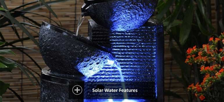Solar water features