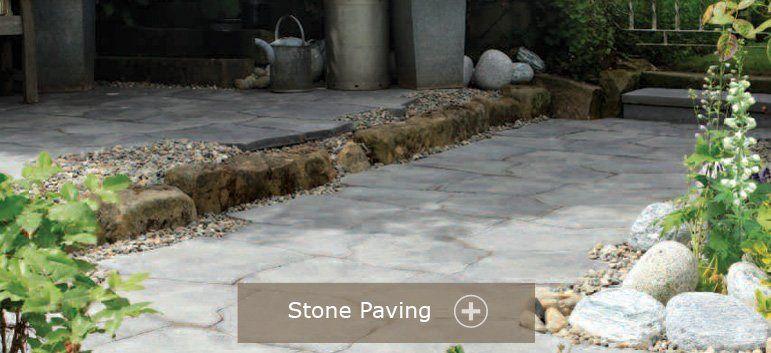 Stone garden paving